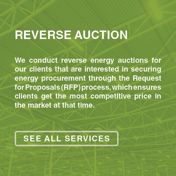 energy management consulting, reverse auction